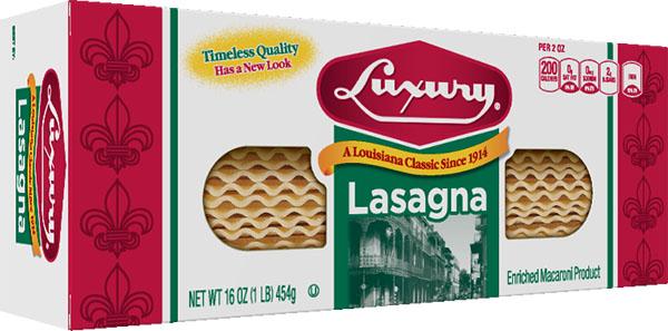 405681_LUX_16oz_Lasagna_3D_c 100% Semolina Lasagna