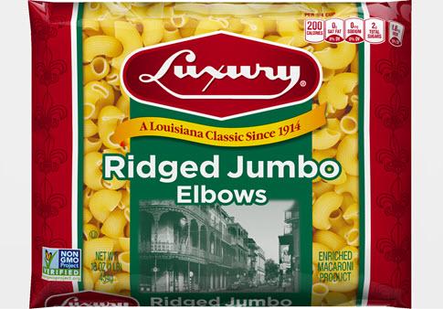 100-Ridged-Jumbo-Elbows-485 100% Semolina Ridged Jumbo Elbows