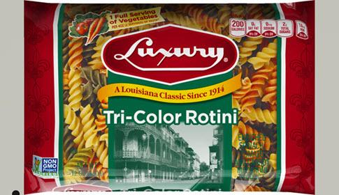 Luxury-Tri-Colored-Rotini-485 100% Semolina Tri-Color Rotini